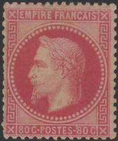 """FRANCE STAMP TIMBRE N° 32 """" NAPOLEON III 80c ROSE 1867 """" NEUF xx A VOIR J980"""