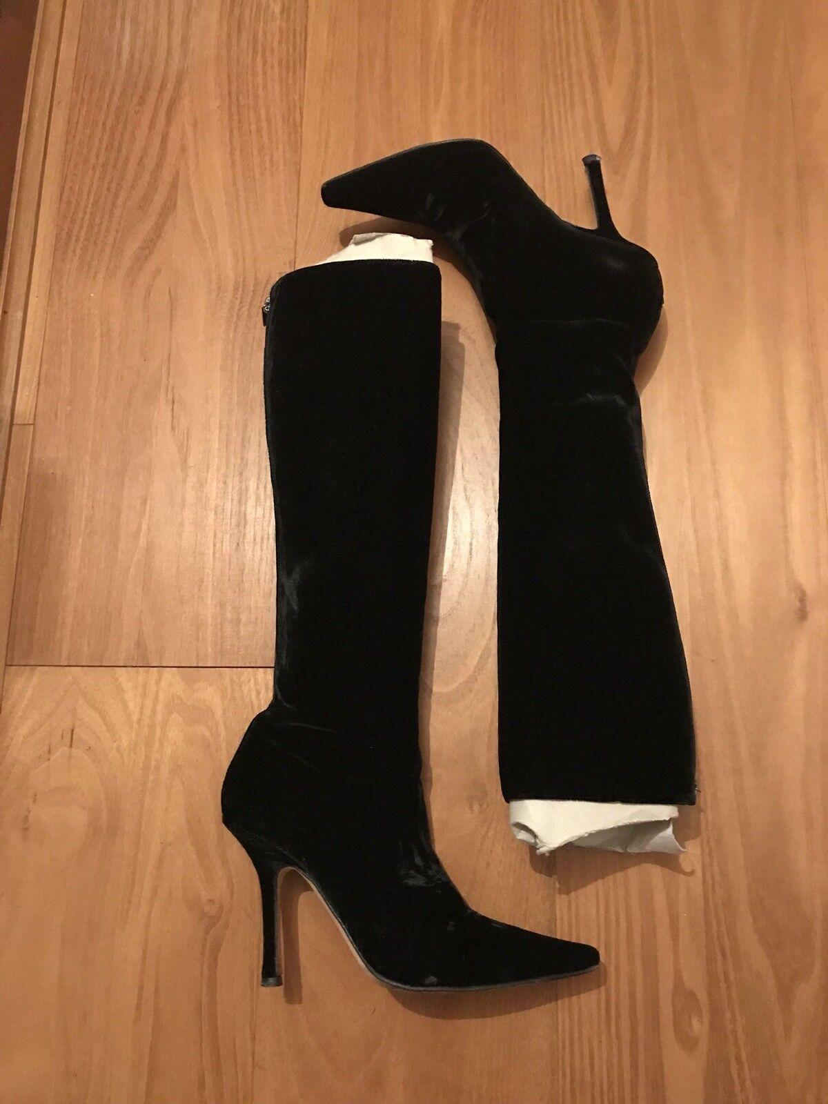 Grandes zapatos con descuento Black Velvet Jimmy choo Boots