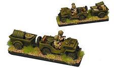 Forjado en batalla nos Jeep pelotón con remolque de suministro X 4 vehículos 15mm 1/100 fow