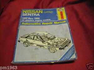 82 1982 Datsun Nissan Sentra owners manual