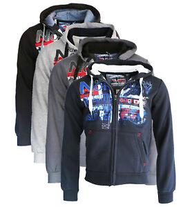 Felpa-GEOGRAPHICAL-NORWAY-Getchup-maglia-maniche-lunghe-Uomo-Zip-Cappuccio-WR652