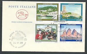 100% De Qualité 2008 Italia Fdc Cavallino Turistica - Fg2008 En Voyageant