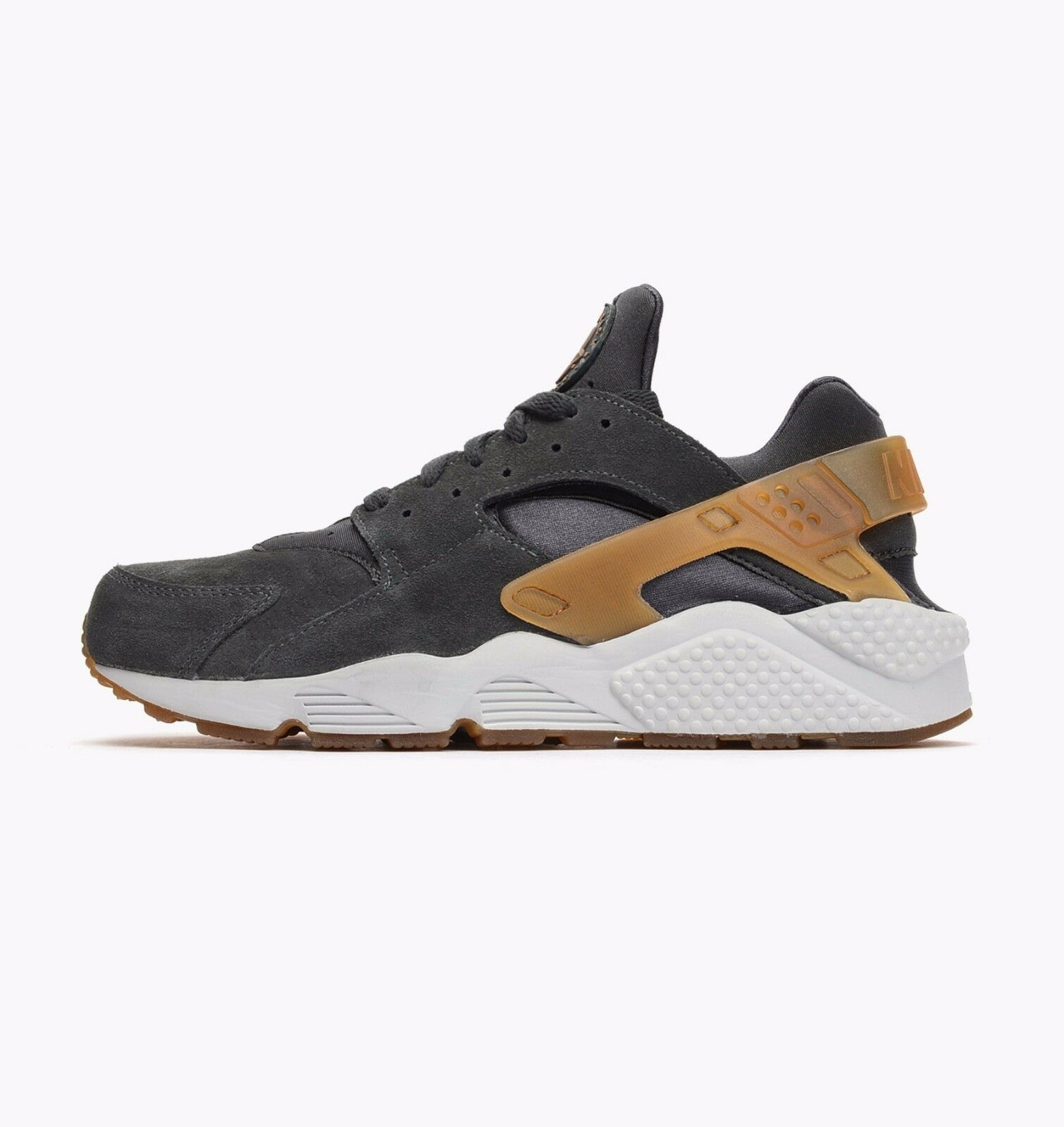 Mens Nike Air Huarache Anthracite Grey Mid Brown Trainer 318429 090