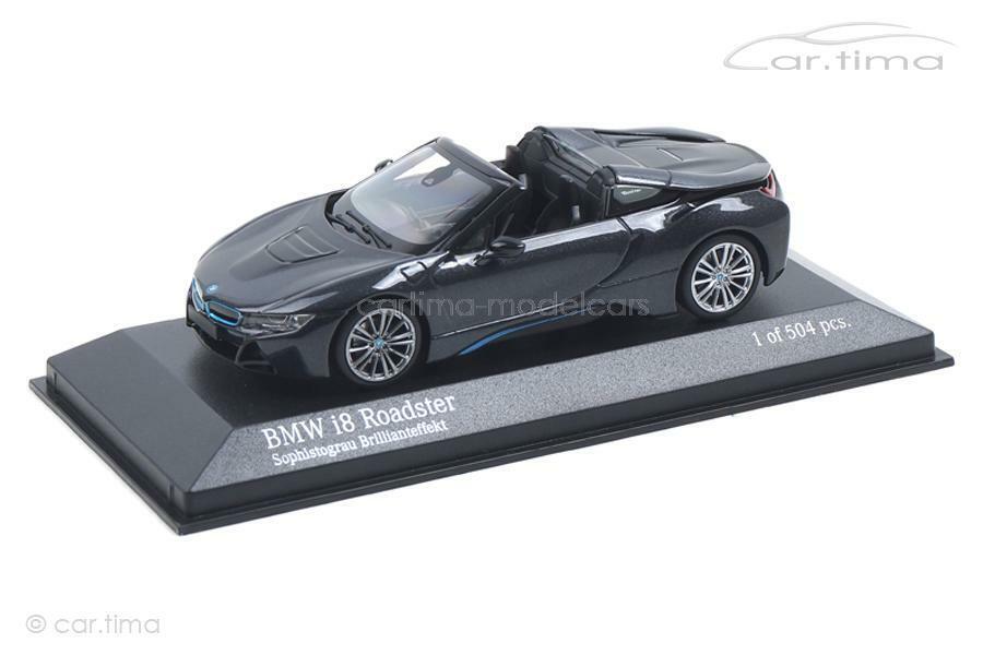 BMW I8 Roadster - grau met. - Minichamps - 1 43 - 410027030  | Die Farbe ist sehr auffällig
