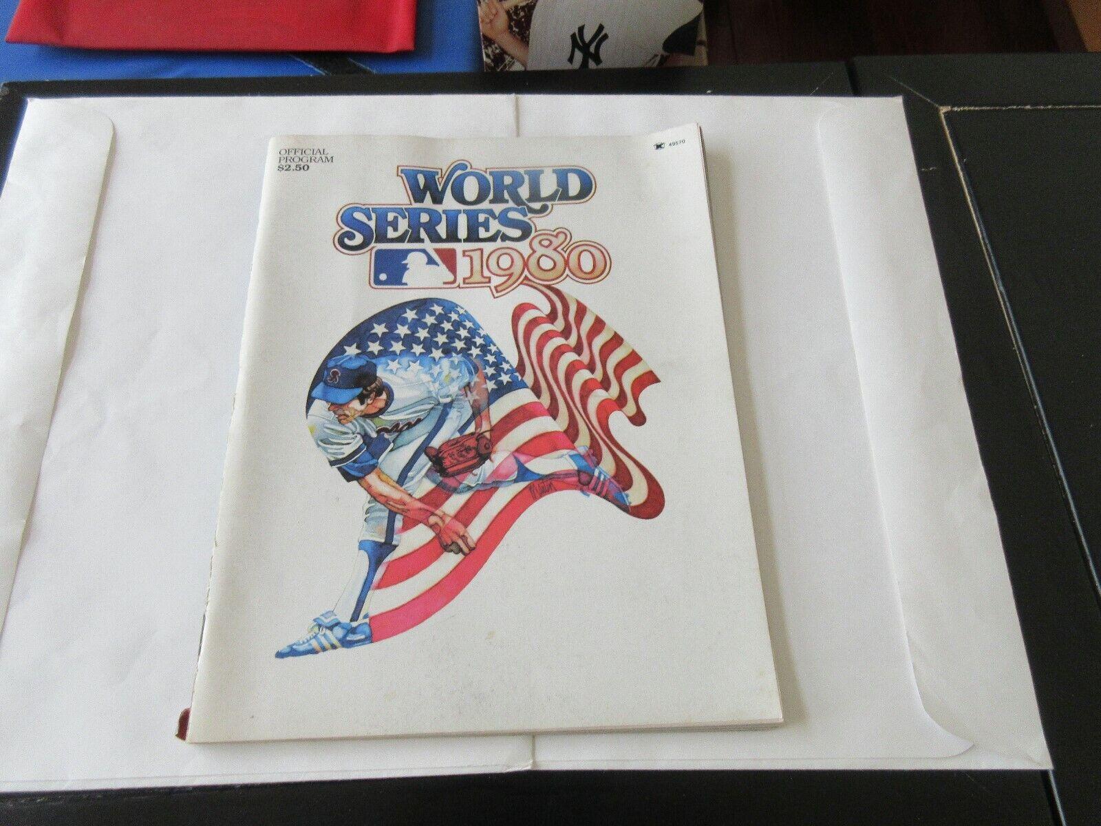 World Series 1980 , Official Program , Philadelphia Phi