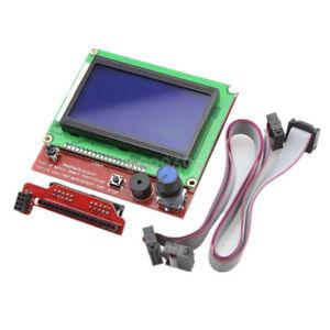 12864-LCD-DISPLAY-CONTROLLER-WITH-ADAPTER-FOR-RAMPS-1-4-RepRap-Guru-3D-Printer