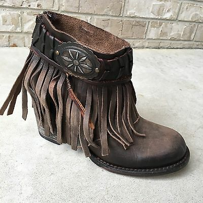FREEBIRD Free Bird Chief By Steven Women's  Leather Booties Brown Size 9 New/Box