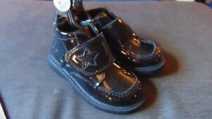 M-amp-S-Patent-Leather-RipTape-Scuff-Resistant-Ankle-Boots-UK7-Kids-EU24-BlackBNWT