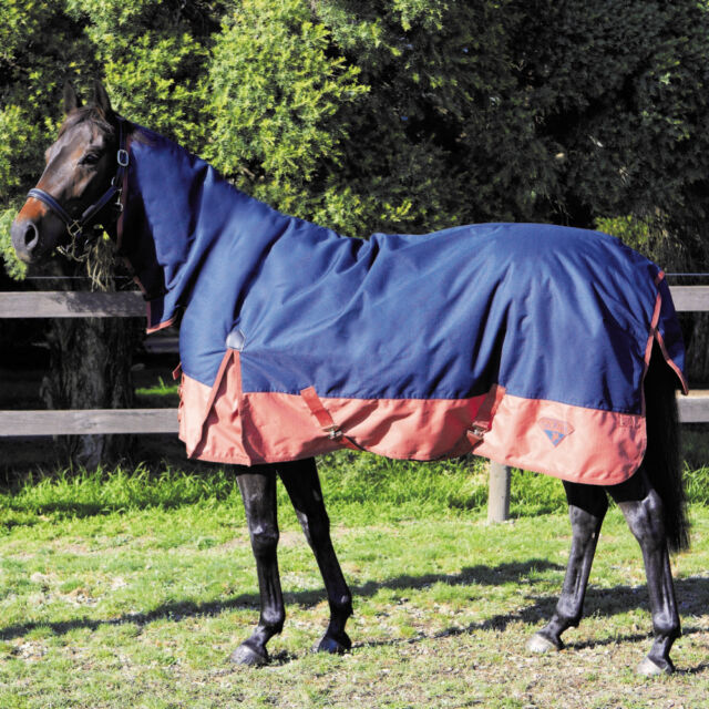 Saxon 1200d Plus 300g Heavyweight Combo Attached Neck Heavy Weight Turnout Rug