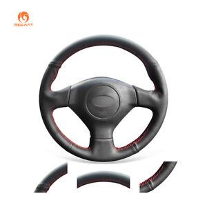 Black-PU-Leather-Steering-Wheel-Cover-for-Subaru-Legacy-Impreza-WRX-Saab-9-2X