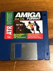 Amiga-Format-cover-disk-67b-Sensible-World-of-Soccer-TESTED-WORKING