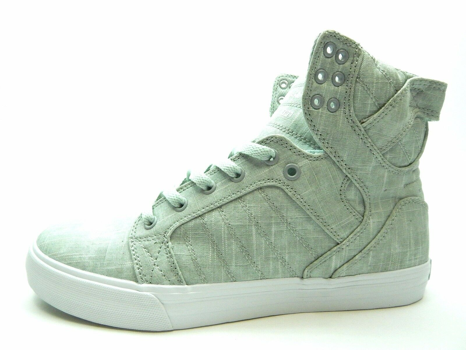 SUPRA SKYTOP WASHED GREY WHITE 08002-046-M MEN SHOES SIZE 8 TO 14