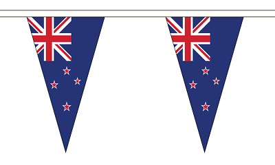 New Zealand Triangle Bunting 27 flags on this 10 meter Long Bunting