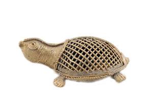 Figurina Statuetta Tartaruga IN Ottone Etnico Orissa India Peterandclo Turtle