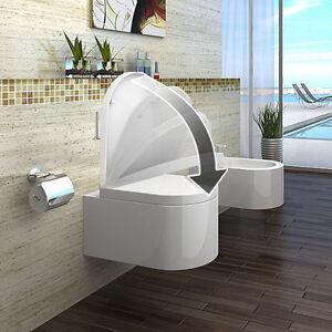 lux-aqua Luxus Wand Hänge WC  Toilette inkl WC-Sitz Soft-Close CT2044A