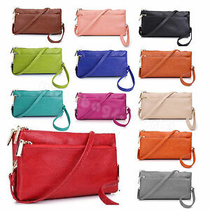 9dcee397cb2 Ladies Small Multi Pocket Leather Style Clutch Women's Mini Satchel ...