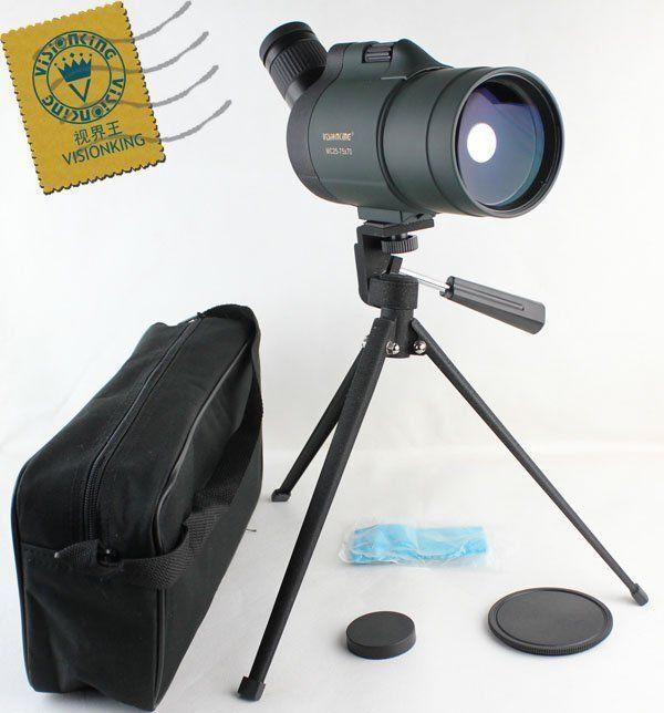 Visionking 25-75x70 Impermeable telescopio  Pro caza + observación de aves  precios bajos