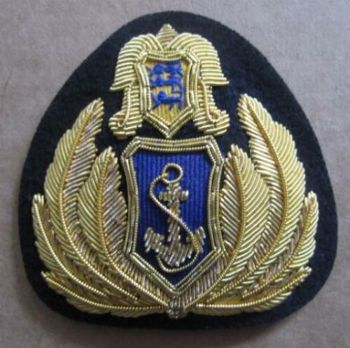ESTONIA NAVY OFFICER HAT CAP BADGE NEW HAND EMBROIDERED CP MADE