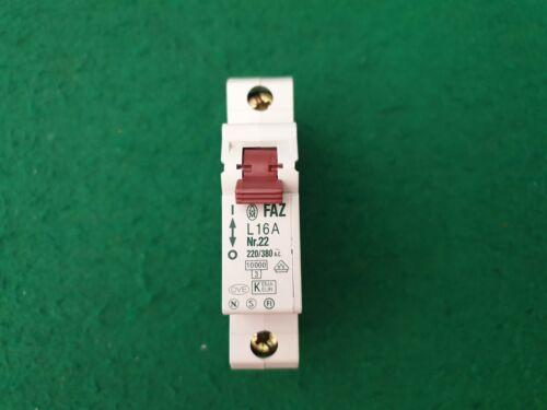 Moeller FAZ L16A Circuit Breaker 16 Amp MCB