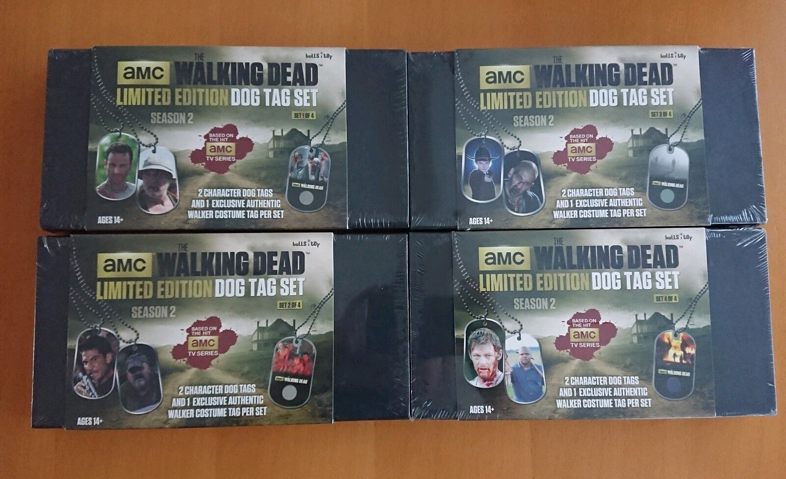 RARE NEW The Walking Dead SEALED Limited Edition Dog Tags Lot (4 boxes) costume