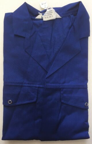 Alexandra Workwear Long Sleeve Jacket Royal Blue Coveralls With Popper Pockets