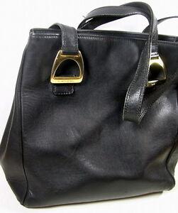 Vintage Lancel Sac Collection Cuir Noire xqaqd0nFwv