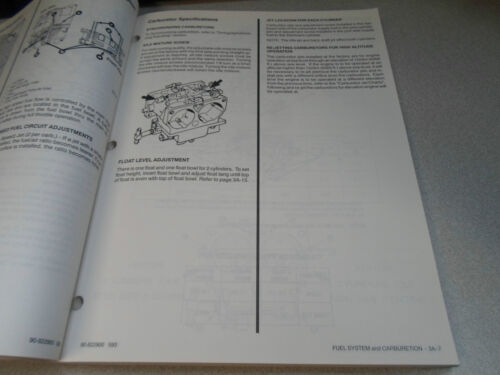 Mercury Mariner Outboards Service Manual 225 3 Litre 90-822900 OEM ...