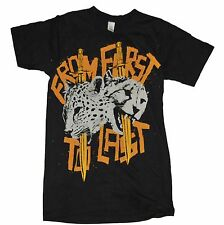 From First to Last American Hardcore Rock Cheetah Black Women's T-Shirt Size XS