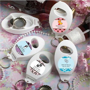 60 personalized bottle opener keychains birthday baby party wedding favors ebay. Black Bedroom Furniture Sets. Home Design Ideas