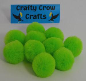 10-x-nouveau-grand-nouveau-vert-citron-neuf-couleur-50mm-pompons
