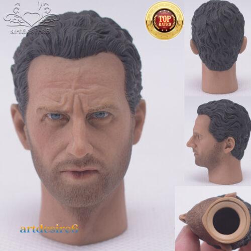 "1//6 Rick Head Sculpture A-22 Exquisite Men/'s Head Hot Toys F12/"" Male Body Figure"