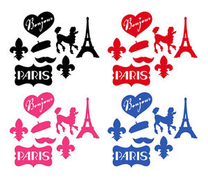 Details About Paris France French Themed Cut Out Die Cut Silhouettes Party Decorations