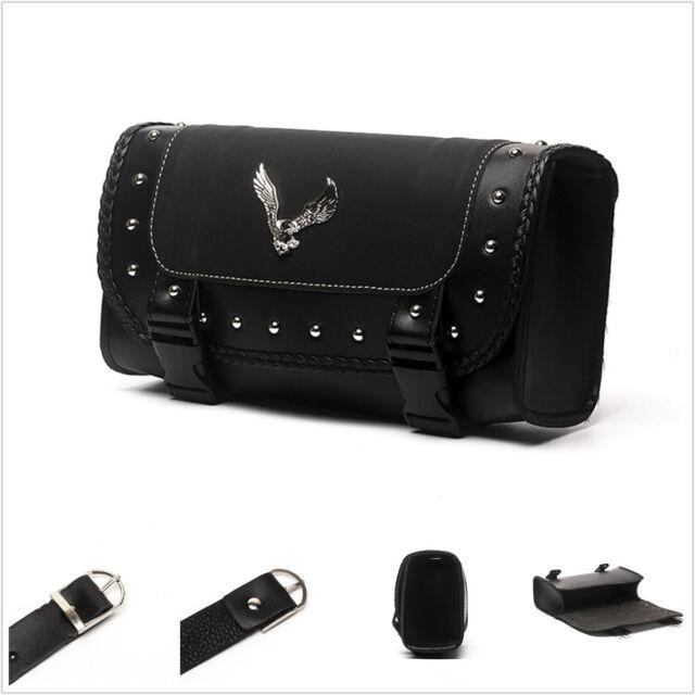 06399b4dd0b2 Buy Motorcycle PU Leather Side Bag Saddle Bags Black for Harley Sportster  Kawasaki online