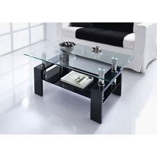 Modern Stylish & Luxury Nevada Glass Coffee Table In Black Home Furniture