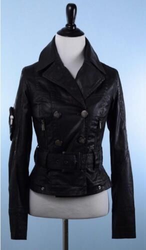 jas mouw corset Paul terug lederen Jean faux Smal lange Detail Zwarte Gaultier qwSXXIv