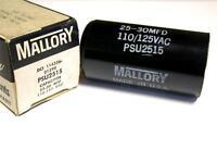 In Box Mallory Precision Capacitor 25-30mfd 110-125vac Psu2515 (5 Available)