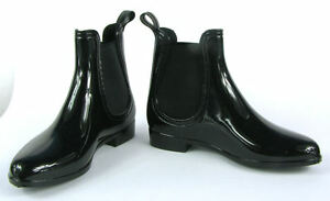 check out 5780f 0839f Details zu Damen Lack Stiefeletten Gummistiefel Chelsea Boots Schuhe  Gr.36-41 Schwarz