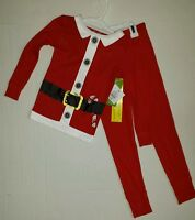 Christmas Pajamas 2 Piece Set Anthem Red Santa Childrens Child Kids Size