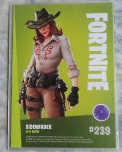 Trading Cards FORTNITE Serie 1: SIDEWINDER # 239, Epic Outfit