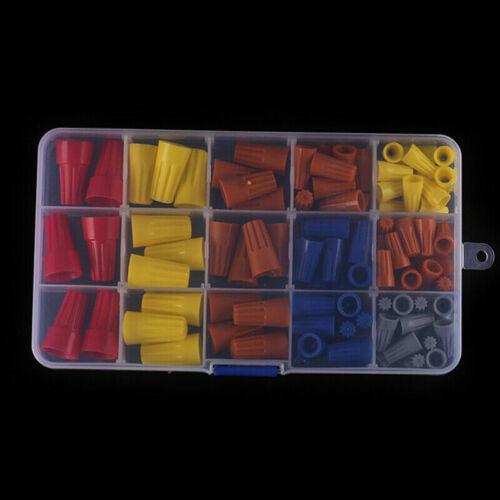 102pcs Wire Connecteur Twist électrique écrou Spring Cap Assortiment Kit Set P1 ~ P6