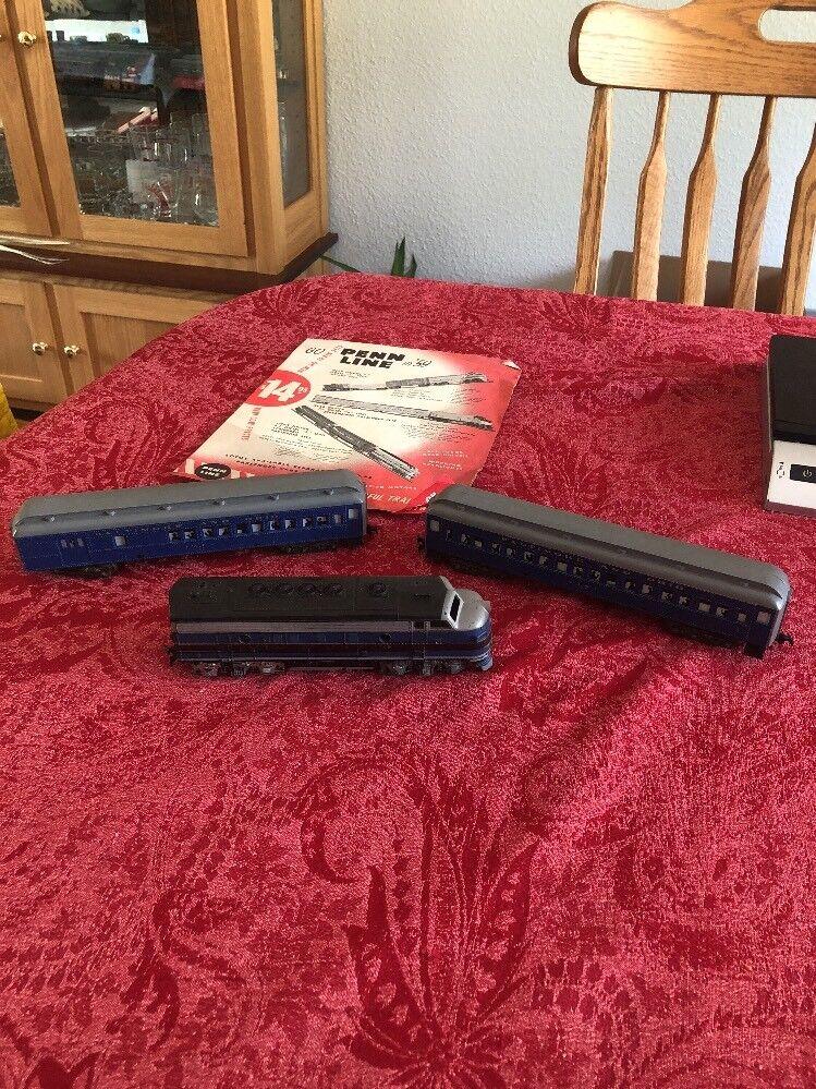Vintage HO Scale Penn Line Baltimore And Ohio Train Set