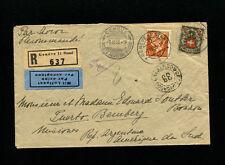 Switzerland 1933 Registered Airmail to Argentina