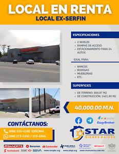 LOCAL EX SERFIN EN RENTA