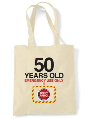 Don/'t Panic 50th Birthday Tote Shoulder Shopping Bag Gift Present Funny