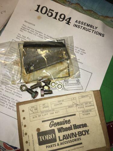 Toro Wheelhorse Lawn-Boy Lawnmower Lift Tab Kit #105194 NOS OEM