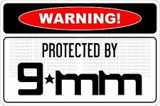 Warning Protected By Glock 9mm For Sale Online Ebay