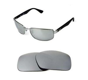 8f3cc6e62c NEW POLARIZED REPLACEMENT SILVER ICE LENS FIT RAY BAN RB8316 62mm ...