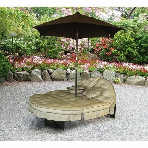 patio double chaise lounge chair umbrella outdoor daybed bed garden furniture ebay