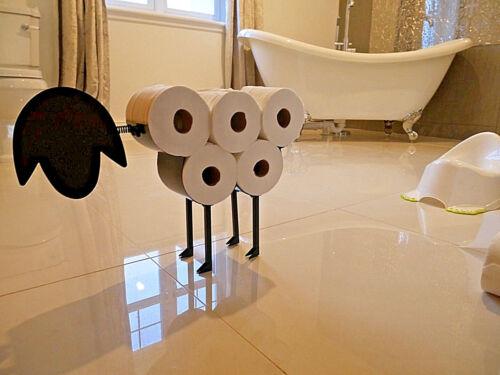 Nouveauté Mouton Porte-rouleaux de papier toilette salle de bains Tissu Ornement autoportante en métal
