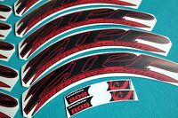 Zipp 808 2012 Black & Red Replacement Rim Decal Set For 2 Rims